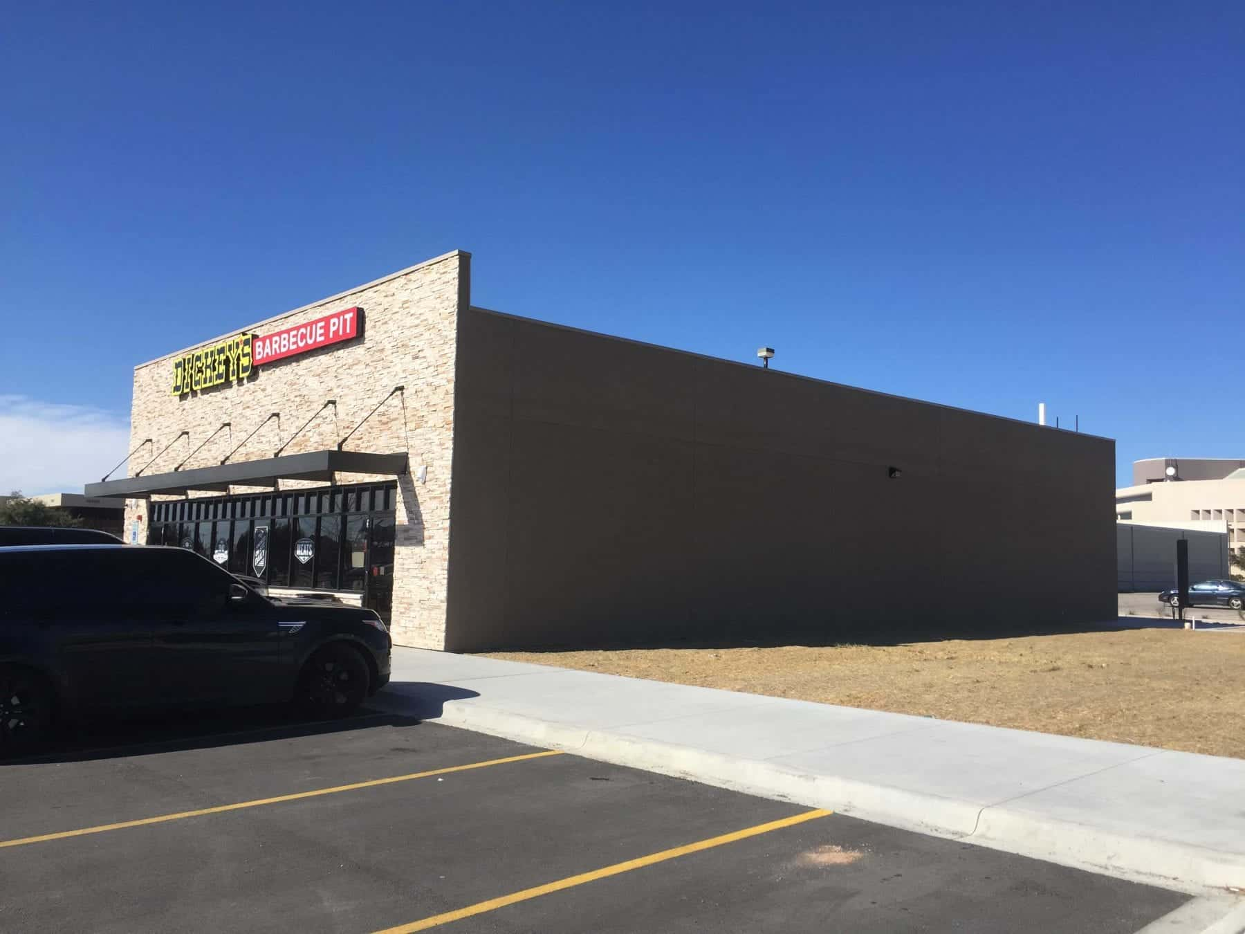 Dickey's Barbecue Pit Exterior Side Renovation by JFA Construction LLC